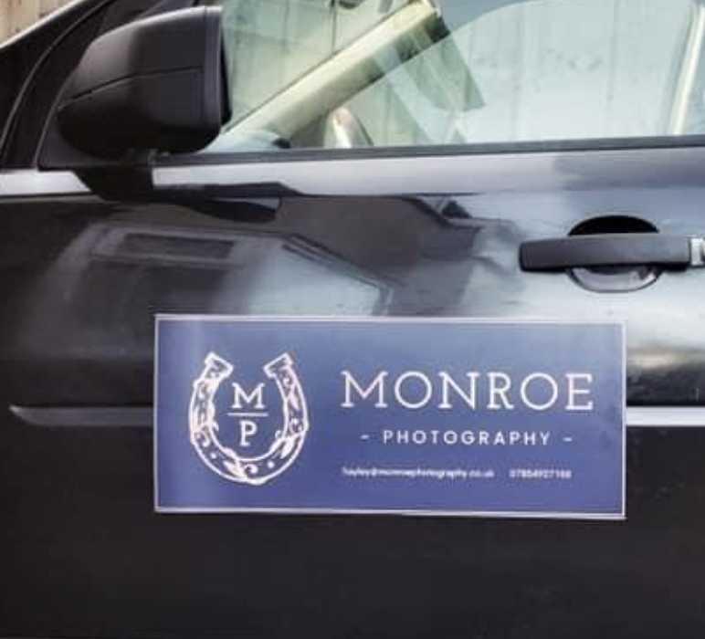 Monroe Photography Car Magnet Signage